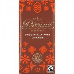 Divine Chocolate - Milk Chocolate Orange - 15 x 90g