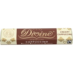 Divine Chocolate - Milk & White Chocolate Cappuccino Bar - 30 x 35g