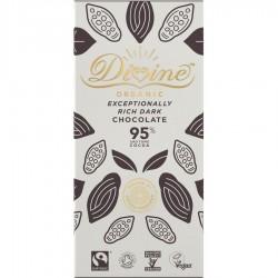 Divine Organic - 95% Dark chocolate - 10 x 80g