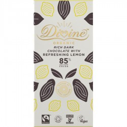 Divine Organic - 85% Dark Chocolate with Lemon - 10 x 80g
