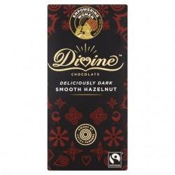 Divine Chocolate - Dark chocolate Hazelnut Truffle - 15 x 90g
