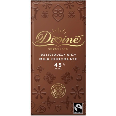 Divine Chocolate - 45% Milk Chocolate - 15 x 90g