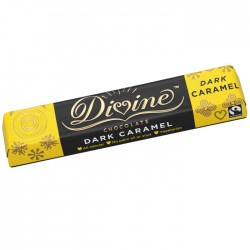 Divine Chocolate - Dark Chocolate Caramel Bars - 30 x 35g