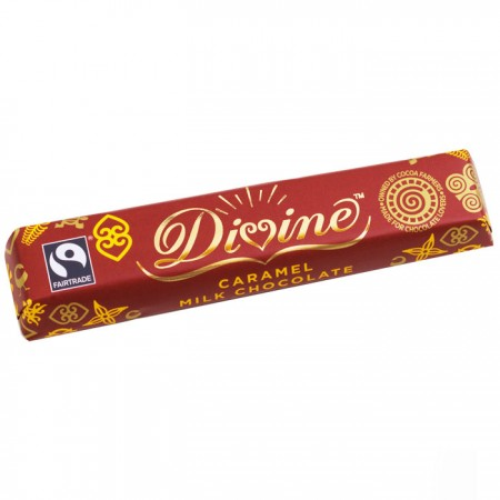 Divine Chocolate - Caramel Milk Chocolate Bar 30 x 40g