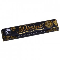 Divine Chocolate - 70% Dark Chocolate Bar 30 x 40g