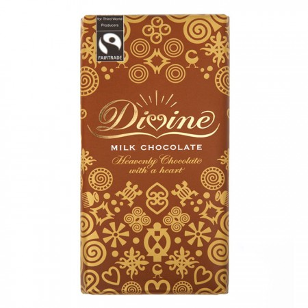 Divine Chocolate - Milk Chocolate 15 x 100g
