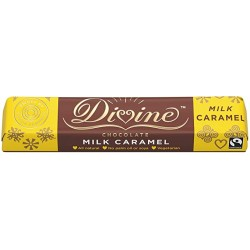 Divine Chocolate - Caramel Milk Chocolate Bar - 30 x 35g