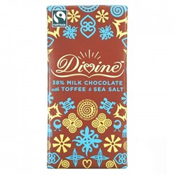 Divine Chocolate - Milk Chocolate With Toffee & Sea Salt