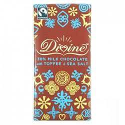 Divine Chocolate - Milk Chocolate With Toffee & Sea Salt