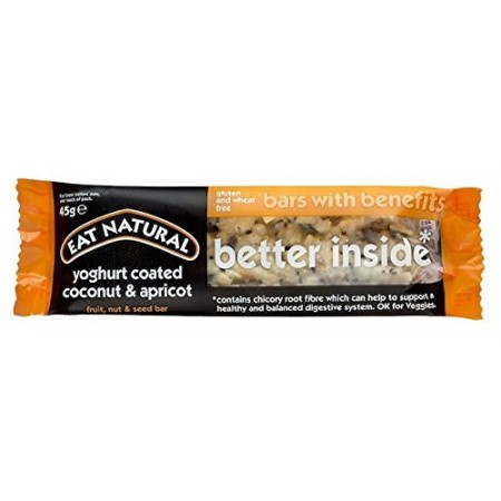 Eat Natural Better Inside Yoghurt Coated Coconut & Apricot 12 x 45g