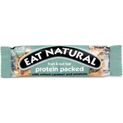 Eat Natural With Salted Caramel and Peanuts Protein Bar 12 x 45g