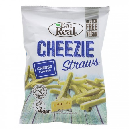 Eat Real Cheezie Straws - Cheese Flavour - 12 x 45g