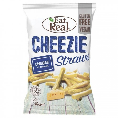 Eat Real Cheezie Straws - Cheese Flavour - 10 x 113g