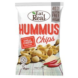 Eat Real Hummus Chips - Chilli Cheese Flavour - 10 x 113g