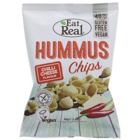 Eat Real Hummus Chips - Chilli Cheese Flavour - 12 x 45g