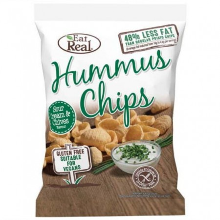 Eat Real Hummus Chips - Sour Cream & Chive - 10 x 113g