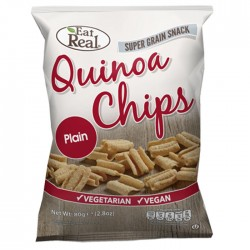 Eat Real Quinoa Plain Chips - 10 x 80g