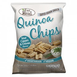 Eat Real Quinoa Sour Cream & Chive 10 x 80g