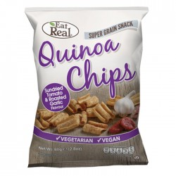 Eat Real Quinoa Chips Tomato And Roasted Garlic 10 x 80g