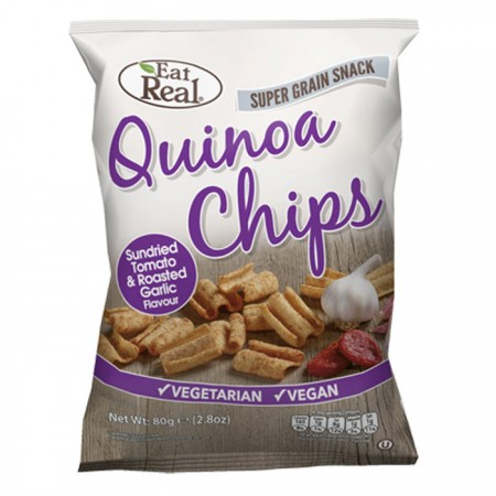 Eat Real Quinoa Chips Tomato And Roasted Garlic 12 x 30g