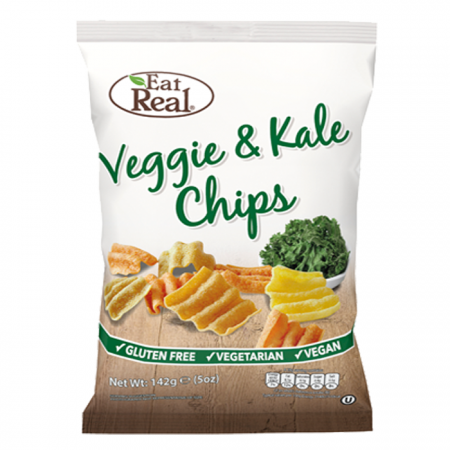 Eat Real Veggie Tomato, Spinach & Kale Chips - 10 x 80g