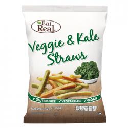 Eat Real Veggie Tomato, Spinach & Kale Straws - 12 x 30g