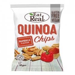 Eat Real Quinoa Paprika Flavour Chips - 10 x 80g