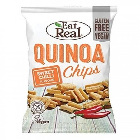 Eat Real Quinoa Sweet Chilli Flavour Chips - 10 x 80g