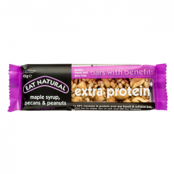 Eat Natural Bars With Benefits, maple syrup, pecans & peanuts (extra protein) - 12 x 45g