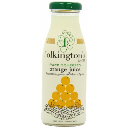 Folkington's Pure Squeezed Orange Juice 12 x 250ml