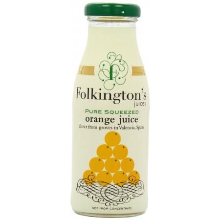 Folkington's Pure Squeezed Orange Juice 12 x 250ml