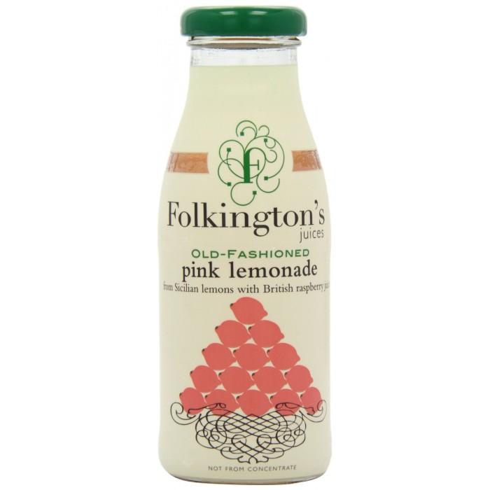 Folkington's Old Fashioned Pink Lemonade Juice 12 x 250ml