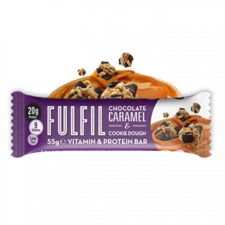 Fulfil Vitamins & Protein Bar, Chocolate Caramel & Cookie Dough - 15 x 55g