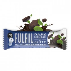 Fulfil Vitamins & Protein Bar, Dark Chocolate & Mint - 15 x 55g