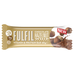 Fulfil Vitamins & Protein Bar, Chocolate Hazelnut Whip- 15 x 55g