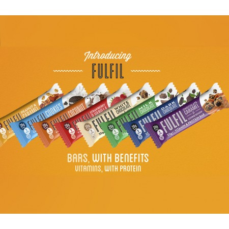 Fulfil Vitamin & Protein Bars buy any 4 for £70 - 15x55g - 10 Flavours