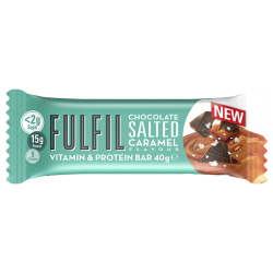 Fulfil Vitamins & Protein Bar, Salted Caramel - 15 x 55g