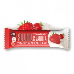 Fulfil Vitamins & Protein Bar, Strawberry & Vanilla - 15 x 60g