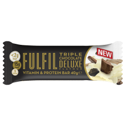 Fulfil Vitamins & Protein Bar, Tripple Chocolate Deluxe - 15 x 55g