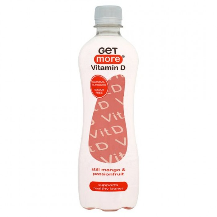 Get More Vitamin D Still Mango & Passionfruit- 12 X 500ml