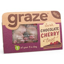 Graze Dark Chocolate Cherry Tart x 9