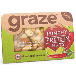 Graze Punchy Protein Nuts x 9
