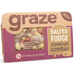 Graze Salted Fudge Peanut Cookie x 9