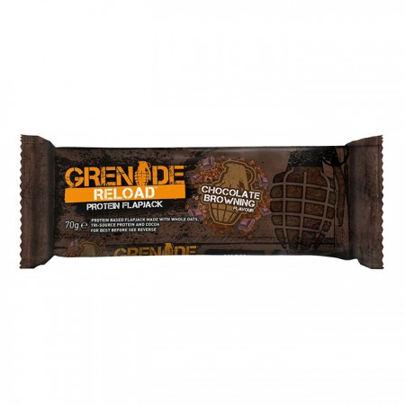 Grenade Reload Protein Flapjack - Chocolate Browning  | 12 x 70g