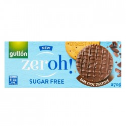 Gullon Zeroh Sugar Free Dark Chocolate Digestives - 12 x 270g