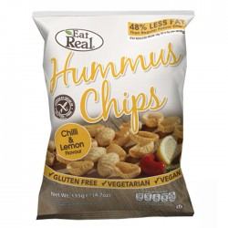 Eat Real Hummus Chips - Chilli & Lemon Flavour - 10 x 135g