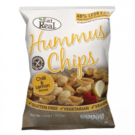 Hummus Chips - Chilli & Lemon Flavour - 12 x 45g
