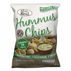 Eat Real Hummus Chips - Creamy Dill  - 10 x 135g