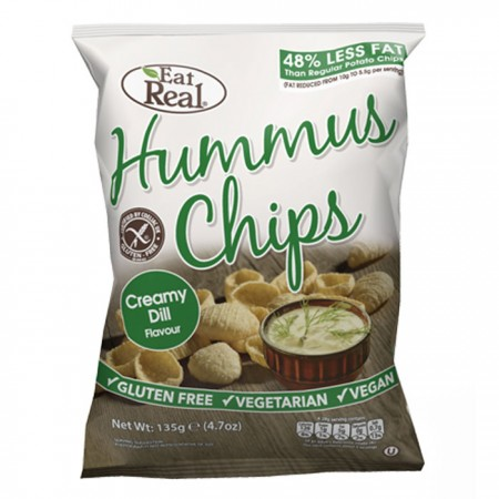 Eat Real Hummus Chips - Creamy Dill  - 12 x 45g