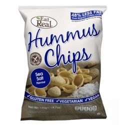 Eat Real Hummus Chips - Sea Salt - 12 x 45g